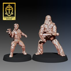 Download STL file PACK: SMUGGLER & BODYGUARD • 3D printer design, KnightSoul_Studio