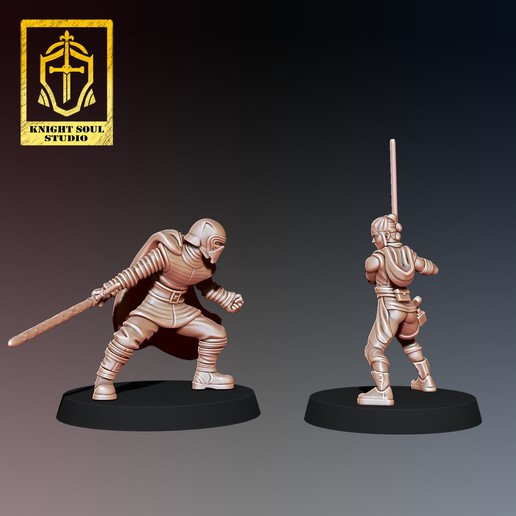 Rey v Ren 3.jpg Download STL file PACK LAST KNIGHT V FALLEN KNIGHT • 3D printer model, KnightSoul_Studio