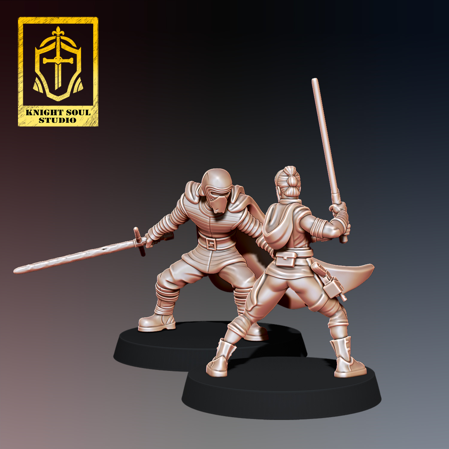 Rey v Ren 4.jpg Download STL file PACK LAST KNIGHT V FALLEN KNIGHT • 3D printer model, KnightSoul_Studio