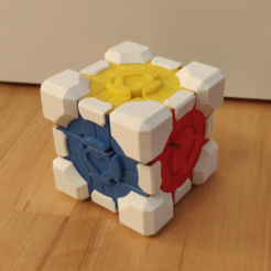 Cube_1.png Download free STL file Rubiks Cube Companion Cube extensions • Template to 3D print, Galva101