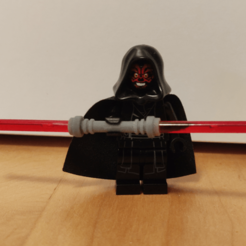 Maul.png Download free STL file Lego Darth Maul Lightsaber • Template to 3D print, Galva101