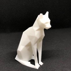 Download free 3D printer files Low poly sitting cat, TaTechLife