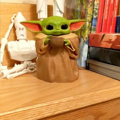 Download free 3D printing designs Baby yoda cup, ovenomojr
