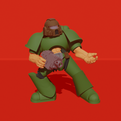 pose.png Download free STL file Marine in Mars-pattern armor • Template to 3D print, Tobunar