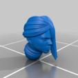 Télécharger fichier STL gratuit Une religieuse de l'espace avec de longs cheveux peignés • Plan pour impression 3D, Tobunar