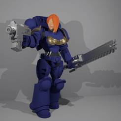 Download free 3D printing designs Marie the Marine, kiryans5