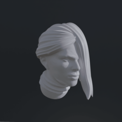 Download free STL file Space nun with long combed hair, kiryans5