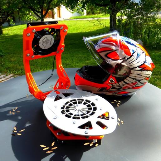 "Download free 3D printer designs Motorcycle helmet fan - motorcycle helmet dryer ""dual"" fan, jonathan68"