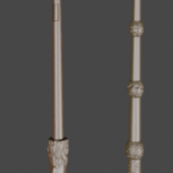 photo baguette.png Download STL file magic wand • 3D printer template, GEEKMAKER3D