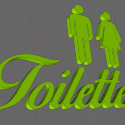 wc.png Download STL file toilet toilet door • Template to 3D print, IDfusion