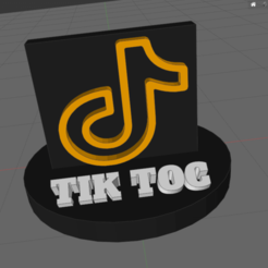 r.png Download STL file tictok • Template to 3D print, IDfusion