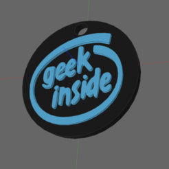 Download 3D printing templates geek inside keychain, IDfusion