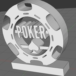 Download free 3D printer model Giant poker chip, Idfusion