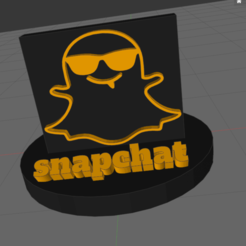 r.png Download STL file snapchat • 3D print template, IDfusion
