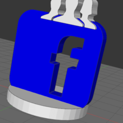 Télécharger modèle 3D gratuit Logo facebook, Idfusion