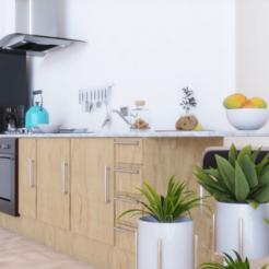 final_1.png Télécharger fichier OBJ Kit de meubles de cuisine. • Design pour imprimante 3D, angeljumbo
