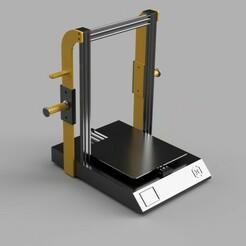 ASWX1_Spool.jpg Download free STL file Z-Brace / Spool Holder for Sidewinder X1 • Model to 3D print, alpo16000