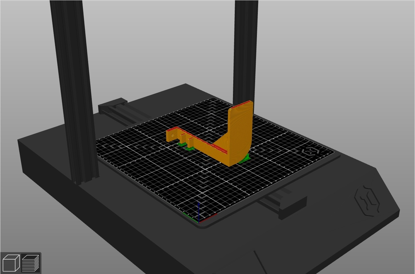 Support_GoPro_Z-Axis_Bed.jpg Download free GCODE file GoPro Support For Artillery Sidewinder X1 (Z-Axis) • 3D printing design, alpo16000
