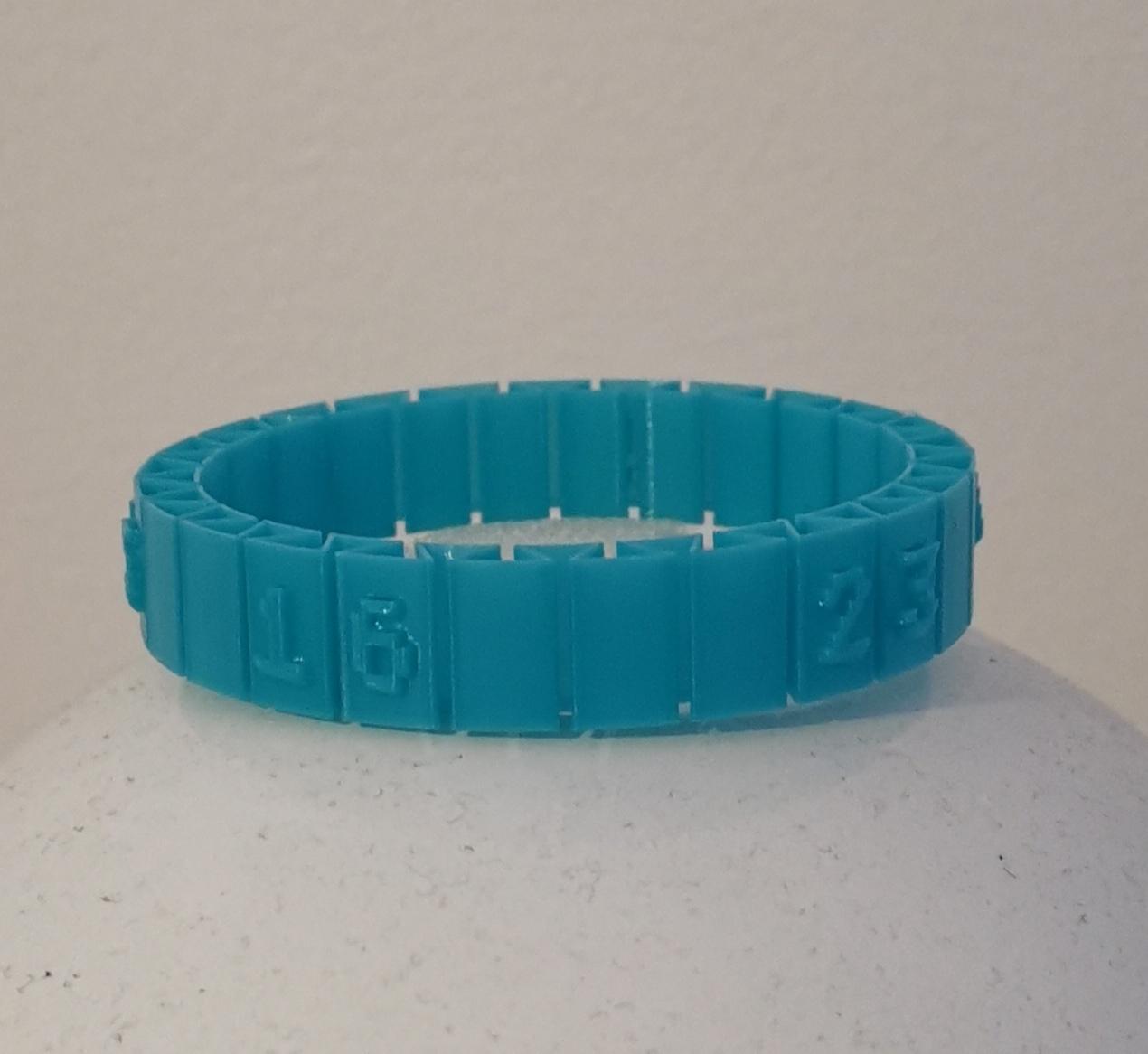 lottery.jpg Download free STL file Lost Numbers Bracelet • 3D printer object, alpo16000