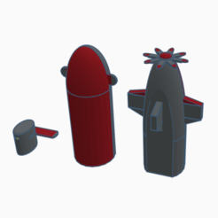 Download free STL file Z-11 Custom Submarine (3D Printable Version) • 3D printable template, alexsmunozn