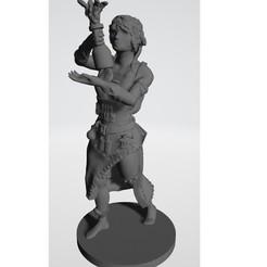Impresiones 3D Alquimista Femenina para juegos de rol de mesa, helznicht
