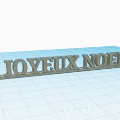 JN photo.png Télécharger fichier STL gratuit Joyeux Noël texte • Design pour imprimante 3D, Tarmire