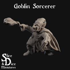 Sorcerer Cover.png Télécharger fichier STL gratuit Sorcier gobelin de table miniature • Design imprimable en 3D, SliceAndDiceMiniatures