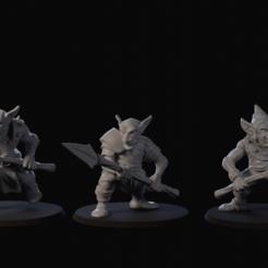 Descargar modelo 3D gratis Paquete miniatura de mesa Goblin Skirmisher, SliceAndDiceMiniatures