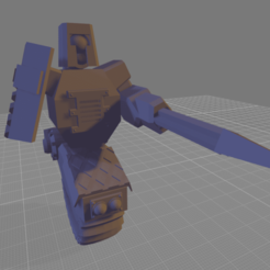 Mono_One_Piece.png Download free STL file Mono(Robot Junk Knight) • 3D printable template, adamjlove92
