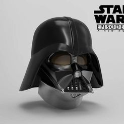 Download STL file Darth Vader Helmet A New Hope Accurate 3D print model • Model to 3D print, 3dPrintArmory