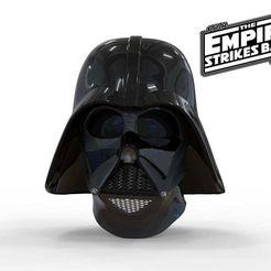 Download STL file Darth Vader helmet Empire Strikes Back Accurate  3D print model • Design to 3D print, 3dPrintArmory