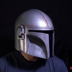 Download STL Mandalorian Helmet, 3dPrintArmory