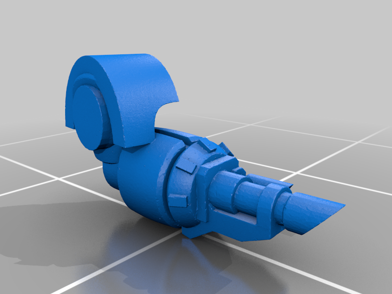 Colossus_Arm_Lascannon_01_processed.png Download STL file 6/8mm Artificer Church, Conqueror Seige Robots • Design to 3D print, Miffles_Makes