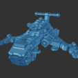 T-Hawk.png Download free STL file 6mm Cosmo Knight Aircraft, Screaming Eagle Assault Transport • 3D printable model, Miffles_Makes