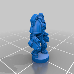 Devastator_P01.png Download free OBJ file 6mm Cosmo Knight, Saturn TacDread Infantry, Gunner Config • 3D printer template, Miffles_Makes