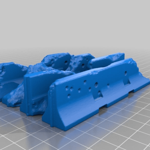 Download free STL file Jersey Barrier terrain set • 3D printing model, Miffles_Makes