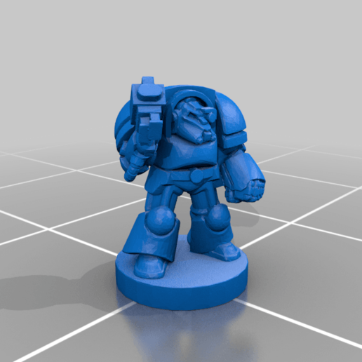 Download free STL file 6mm Cosmo Knight, Heavy Breacher Infantry • 3D print template, Miffles_Makes