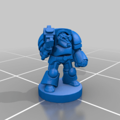 Sergeant.png Download free STL file 6mm Cosmo Knight, Heavy Breacher Infantry • 3D print template, Miffles_Makes