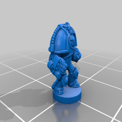 Assault_P01.png Download free OBJ file 6mm Cosmo Knight, Saturn TacDread Infantry, Assault Config • 3D printer model, Miffles_Makes