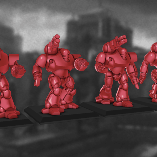 Colossus_Set.png Download STL file 6/8mm Artificer Church, Conqueror Seige Robots • Design to 3D print, Miffles_Makes