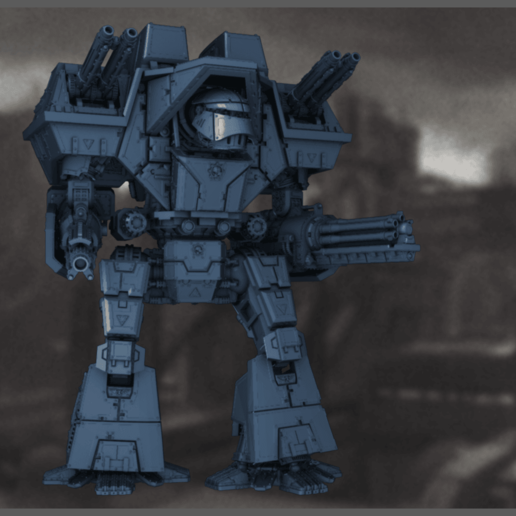 01_Front.png Download STL file 6/8mm Lucifer Pattern Overlord Warmech • 3D printing design, Miffles_Makes
