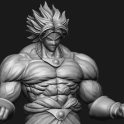 broly-dragonball-fighterz-3d-model-stl-11.jpg Télécharger fichier STL gratuit Broly Dragonball Z • Plan pour impression 3D, Madhazred