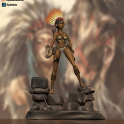 Descargar archivo 3D Native American girl, pablobotia3dartist