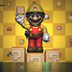 Télécharger fichier impression 3D Super Mario Maker FAN ART TOY, pablobotia3dartist