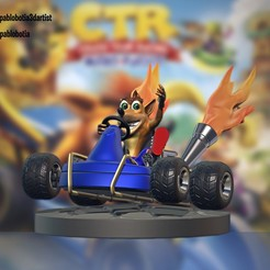 final.jpg Download free STL file Crash team racing nitro fueled • 3D printer model, pablobotia3dartist