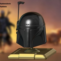 final.jpg Download STL file Mandalorian helmet • 3D printing object, pablobotia3dartist