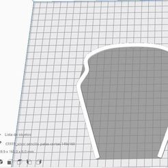 visor sencillo patas cortas 149x160.JPG Download free STL file protective glasses cut out model, visor, screen, protective glasses • 3D print template, Luka3dStudio