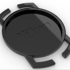 nikon lenscap holder render.jpg Download free STL file Nikon lenscap holder, nikon lens cap holder • 3D print template, Luka3dStudio