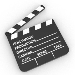 Download 3D print files hollywood clapperboard, Luka3dStudio