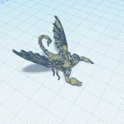 Escorpionfly (3).png Download STL file Winged scorpion • 3D print object, salvadortegas2